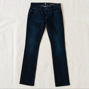 7 for All Mankind | Straight Leg Dark Wash Jeans
